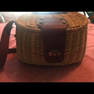 Vintage fisherman basket purse Etienne Aigner